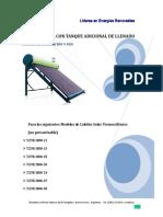 Manual Calefón Solar Fiasa - Soporte a 35º