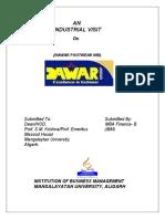 Industrial Visit Report Visit Us @ Management.umakant.info