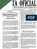Ley Organica Del Trabajo 2012_GO E 6.076