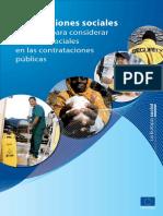 [2011] Comision Europea. Adquisiciones Sociales, una guia para considerar aspectos sociales en las contrataciones públicas