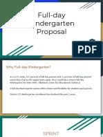Board Presentation Full-Day Kindergarten