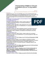 Estatuto Dos Funcionários Públicos Civis Do Estado de Pernambuco -Alterações
