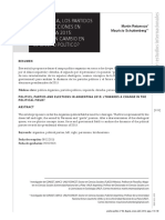 Politics, Parties and Elections in Argentina 2015 Towards a Change in The