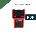 Manual do usuário Satlink WS-6999 HD