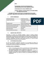 Modelo Informe-proyectos Municipios Escolares-1era. Etapa