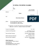 R v Webster - Post-Baldree Text Messages - 2015 BCCA 286