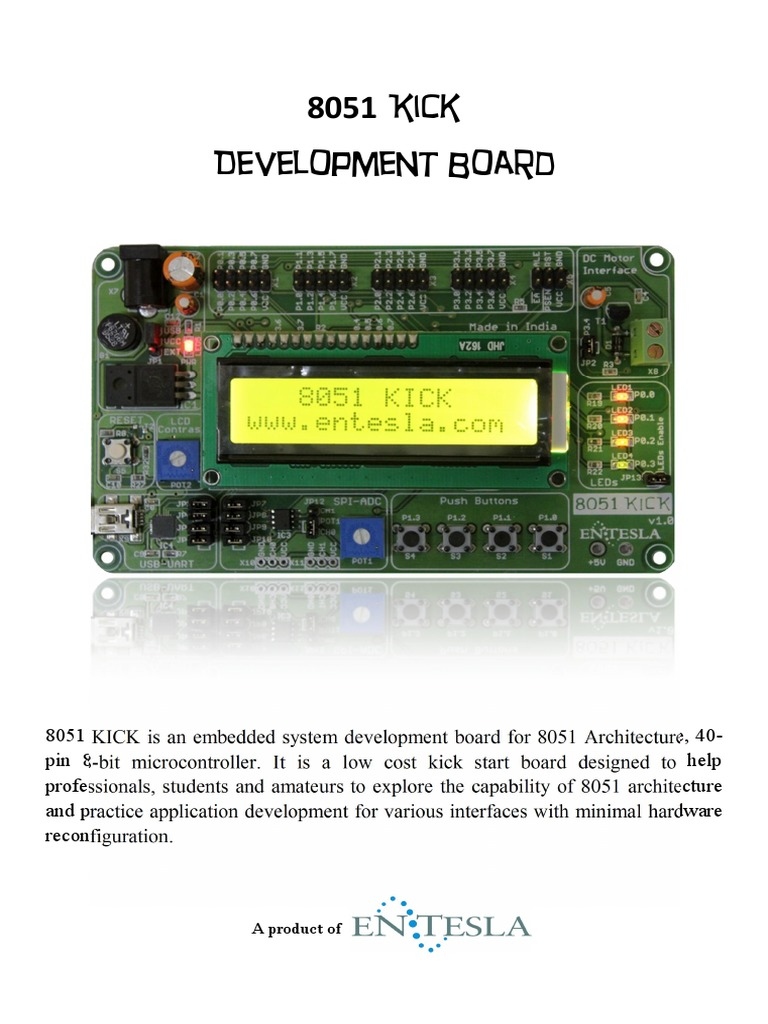 8051 KICK Brochure | Microcontroller | Usb