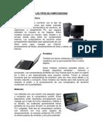 Tipos de Computadoras, Tipos de Sistema Operativo