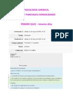 Quiz y Parciales Consolidado - Psicologia Juridica