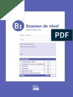 B1 Examen Escrito