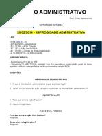 LIA - Roteiro de estudos improbidade administrativa