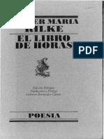 Rilke, Rainer Maria - El libro de horas [ES] (Lumen)