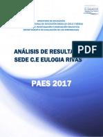 Guía Para El Análisis Resultados Paes 2017