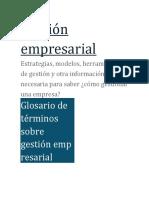 glosaio Gestión empresarial