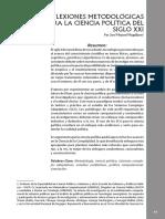 Reflexiones Metodologicas Para La Ciencia Politica Del Siglo XXI