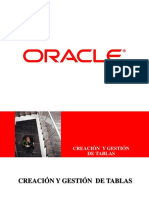 Ddl Creacion de Tablas Oracle 11g