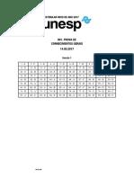 Unesp2017 2 Fase1 Gabarito
