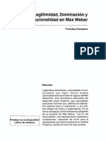 Dialnet-LegitimidadDominacionYRacionalidadEnMaxWeber-5900558