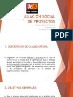 Formulación Social de Proyectos