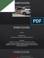 Português 01 - Morfologia - Classes de Palavras