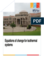 3 - Equations of Change for Isothermal Systems