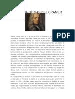 Biografia de Gabriel Cramer