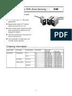Omron E4B Ultrasonic Sensor Datasheet