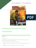 Radio Codes & Signals - New Mexico