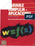 Variable Compleja y Aplicaciones Churchill