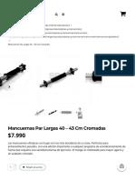 Mancuernas Par Largas 40 – 43 Cm Cromadas – SD MED