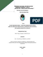 Clima Organizacional y Gestion Administrativa Maestria La Cantuta