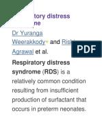 Respiratory Distress Syndromee