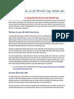 188BET Ca Cuoc - Soi Keo Tai Xiu Ca Do World Cup Chinh Xac Nhat