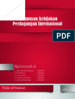 PPT Perumusan Kebijakan Perdagangan Internasional