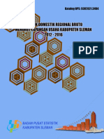 Produk Domestik Regional Bruto Kabupaten Sleman Menurut Lapangan Usaha 2012-2016