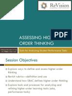 Bless Assessing Higher Order Thinking
