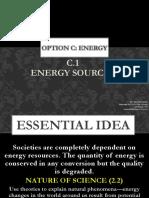 c.1 Energy Sources