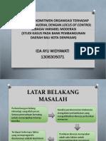 Pengaruh Komitmen Organisasi Terhadap Kinerja Manajerial Dengan Locus