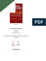 Resumen Del Libro 'Focus', De Daniel Goleman