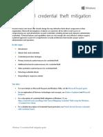 Windows 10 Credential Theft Mitigation Guide