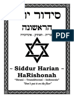 Siddur Doa Yahudi Ibrani Nasrani Kristen HaRishona