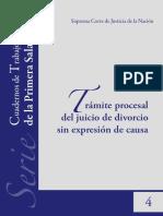 tramite procesal del juicio de divorcio sin expresion de causa.pdf