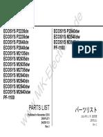 Part List Kyocera M2540