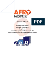 Summary of Afrobarometer report - GHA Round 7 6th April 2018