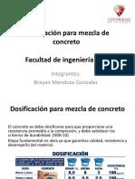 Dosificación Para Mezcla de Concreto