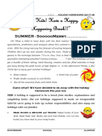 8 - CLASS - HOLIDAY HOMEWORK BOOK FOR SUMMER HOLIDAYS (ACADEMIC YEAR 2017-18)