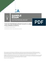 HS Entrepreneurship Sample Exam