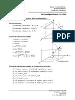 Formulário Cálculo Vetorial e Eletromagnetismo