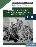 Viaje a caballo por las provincias argentinas - William Mac Cann.pdf