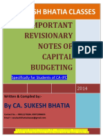 CA IPC Capital Budgeting Most Important Questions 1TR8KKBF